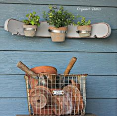 re purposed chair back flowerpot holder, container gardening, crafts, gardening, how to, repurposing upcycling