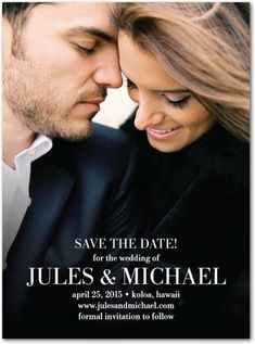 Can't wait to order our save the dates!