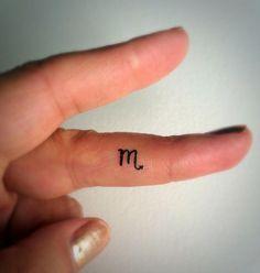 Scorpio Temporary Tattoo Tiny / Fake Tattoos / Finger Tattoos / Zodiac Sign