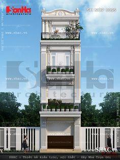 Nhà ống phong cách tân cổ điển D House, Castle House, Facade House, Modern Small House Design, Classic House Design, Home Map Design, Home Room Design, Bungalow House Design, House Front Design