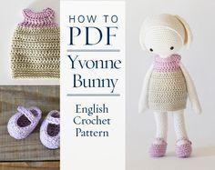 Crochet Pattern Yvonne pretty bunny step by step by CrochetObjet