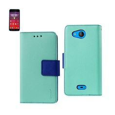 Reiko Wallet Case 3 In 1 For Kyocera Hydro Wave/ Hydro Air/ C6740 With Interior Leather-Like Material & Polymer Cover Green