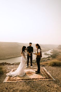Although their larger wedding was canceled, Dani and Whitney's Swan Falls micro wedding was complete with close friends, a camper picnic, and motorcycle portraits. | Jackie and Michael Boho Wedding, Wedding Blog, Wedding Styles, Snake River Canyon, Sustainable Wedding, Tropical Beaches, Wedding Dress Shopping, Old World Charm, Photography And Videography