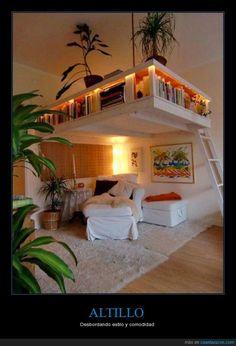 Si tienes los techos altos, podrás ahorrar mucho espacio - Desbordando estilo y comodidad   Gracias a http://www.cuantarazon.com/   Si quieres leer la noticia completa visita: http://www.estoy-aburrido.com/si-tienes-los-techos-altos-podras-ahorrar-mucho-espacio-desbordando-estilo-y-comodidad/
