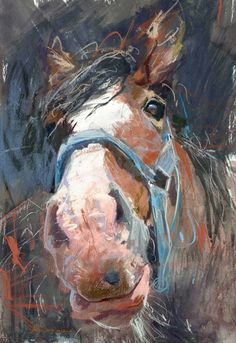 Animals | James Bartholomew RSMA Love the honest expression.  Not all horses are regal!  At least not all of the time. :)