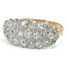 1915 diamond cluster ring- Maybe one day I can have this on my other hand?? :)