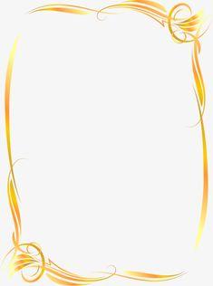 Linda moldura de Ouro vetor, Moldura, Moldura Dourada, Vetor De FronteiraPNG e Vector