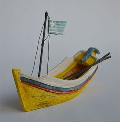 Ceramic ships inspired by Greek ship building tradition and history of navigation at Aegean sea or other parts of the world / Christos Giannakopoulos