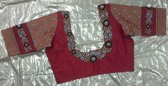 Ikat pattu blouse with thread and zari work 7702919644