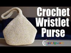 Crochet Wristlet Purse – Famous Last Words Bag Pattern Free, Bag Patterns To Sew, Crochet Patterns, Sewing Patterns, Coin Purse Tutorial, Zipper Pouch Tutorial, Crochet Christmas Gifts, Crochet Market Bag, Macrame Bag