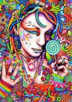 ☮ American Hippie Psychedelic Art ~