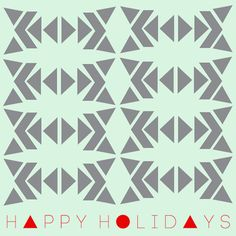 Happy Holidays - geometric bows  - Art Print