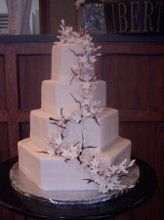 A gorgeous cake by Hollin Hall Pastry Shop!