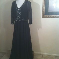 J KARA Navy Mother Of The Bride Dress W/ Jacket Sz 10 New W/Tags Retail $298.00