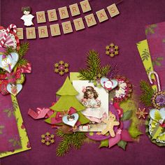 Created with HOHOHO Bundle by Maria Designs. Dear Friend, Layouts, Scrapbook, Messages, Templates, Purple, Create, Holiday Decor, Gallery