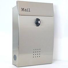 郵便ポスト郵便受け メールボックス壁掛けシルバーステンレス色プレミアムステンレスポストpm131