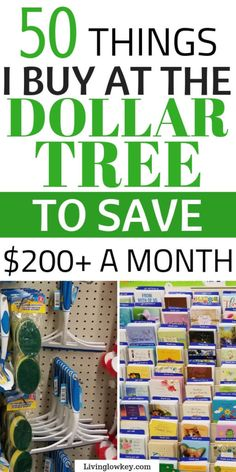 50 things you should always buy at the Dollar Tree! Buying these items at the Dollar Tree will give you the best bang for your buck. These are the BEST essentials you should be buying to save money. They have everything from organization hacks, DIY crafts, summer finds, and great holiday decor.