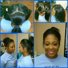 3 part vixen sew in!! Can yo sew in do this!??. Lol!!