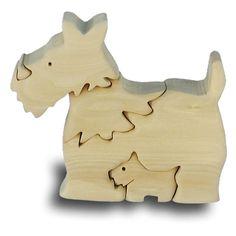 Scottish Terrier Handcrafted Wooden Puzzle Childrens Game TOY DOG Model Figurine | eBay