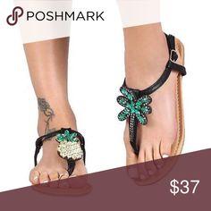 Mismatched embellished sandals Mismatched embellished sandals Shoes Sandals