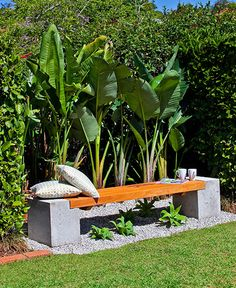 How to make a concrete and timber bench - Better Homes and Gardens - Yahoo!7