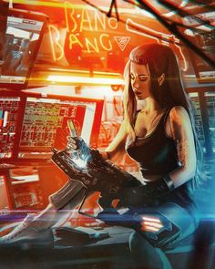 The builder- Kay Ling (Ling) Cyberpunk Games, Cyberpunk Kunst, Cyberpunk Anime, Cyberpunk Girl, Cyberpunk 2077, Superhero Characters, Sci Fi Characters, Character Portraits, Character Art