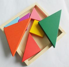 Tangram wooden jigsaw puzzle - educational toy