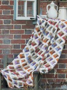 Venetian Diamonds Throw free pattern ♥ 4000 FREE patterns to knit ♥ http://pinterest.com/DUTCHYLADY/share-the-best-free-patterns-to-knit/