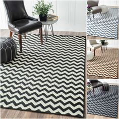 This NuLOOM striped rug is made from synthetic fiber, making it easy to clean without the shedding that is common with some wool rugs. Choose a zebra pattern in black, brown, light blue or navy to give any living area a contemporary lift.