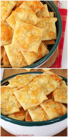 Easy-to-make homemade crackers that taste exactly like white cheddar cheez-its!
