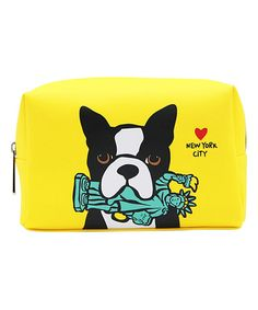 Another great find on #zulily! Yellow Puppy Cosmetic Case #zulilyfinds