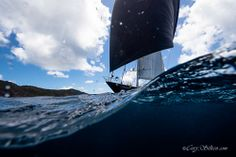 Gliding over the wave. #StBarthsBucket #regatta #superyacht Photography Cory Silken