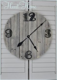 Hometalk :: I wanted a distressed wood clock for my Screen Porch Makeover but all…