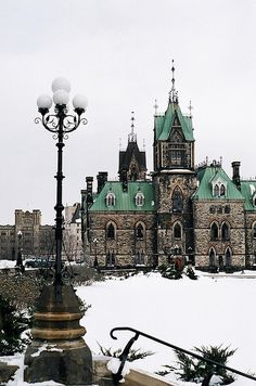 Pinner... Ottawa, Canada -- wonder what building this is... Looks beautiful surrounded by snow.