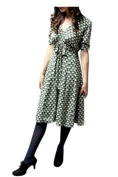 Mimi Malachite Fan Dress by Nancy Mac. Shop now at www.lux-fix.com