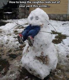 Keeping the neighbor kids out of your yard…this cracked me up!! haha