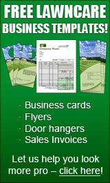 free lawncare business templates
