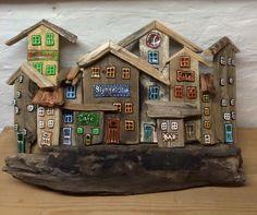 Drivtømmer med glas dekoration, driftwood,