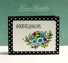 CONGRATULATIONS card by Karin Åkesdotter for Paper Smooches -  Sentiment Sampler, Blossoming Buds