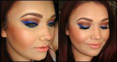 Colbalt Blue Makeup Tutorial