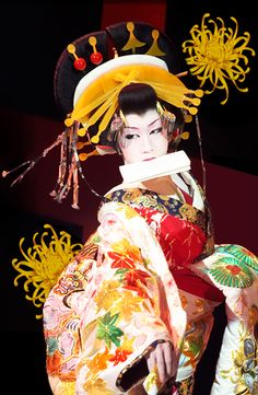 Saotome Taichi (早乙女 太一), a well-known Onnagata (女形), male actors that impersonate women in Japanese theatre (kabuki).