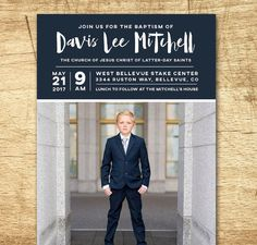 Personalized baptism invitation. Available at Boardman Printing