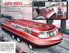 "Dedicated to all things ""geek retro:"" the science fiction/fantasy/horror fandom of the past including pin up art, novel covers, pulp magazines, and comics. Station Wagon, Amphibious Vehicle, Rv Vehicle, Colani, Vintage Travel Trailers, Vintage Airstream, Vintage Campers, Retro Futuristic, Camping Car"