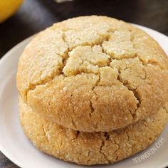 These soft and chewy paleo lemon cookies are vegan, grain-free, gluten-free, and dairy-free.