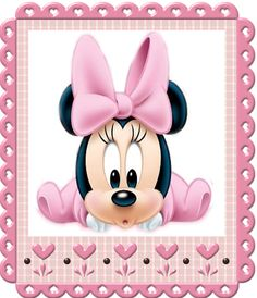 Mickey Mouse Cartoon, Mickey Minnie Mouse, Baby Disney Characters, Minnie Mouse Party Decorations, Minnie Mouse Baby Shower, Baby Painting, Baby Clip Art, Cute Disney Wallpaper, Disney Coloring Pages