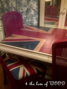 4 the love of wood: THE CAPTAIN AND HIS SOLDIERS PT 3 - union jack set