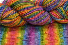 Twisted Roy G. Biv Striping Yarns