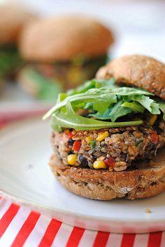 Southwest Quinoa Burgers! #quinoa #burger #recipe