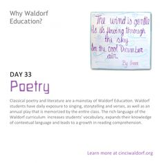 """Poetry"" Things We Love About Waldorf Education"