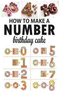 trendy ideas birthday cake number simple - Pasteleria - For Life Food Number Birthday Cakes, Number Cakes, Birthday Numbers, Diy Birthday Cake, Simple Birthday Cakes, Men Birthday, Birthday Ideas, Birthday Parties, Think Food